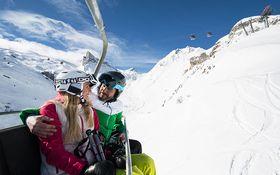 Skifahren am Gletscher