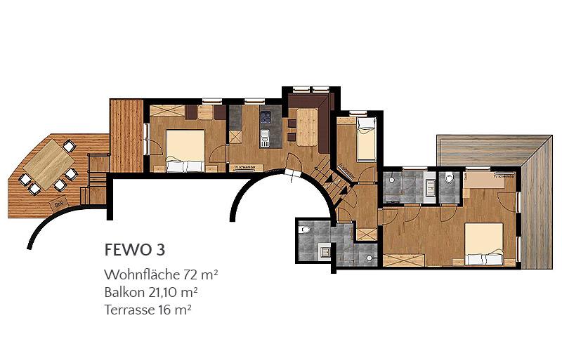[Translate to en:] Appartement 3