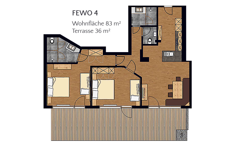 [Translate to en:] Appartement 4