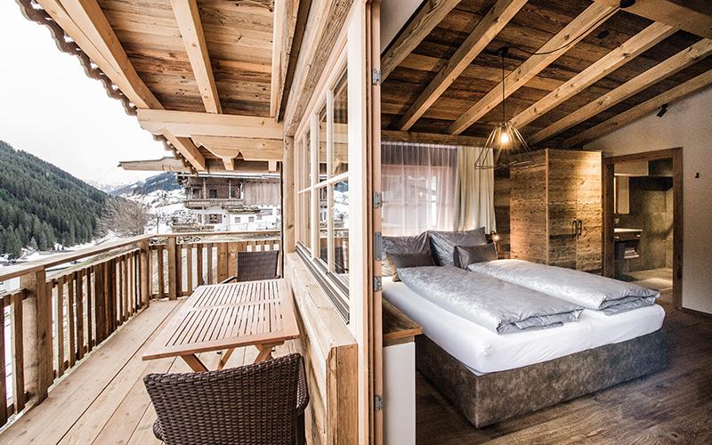 [Translate to en:] Schlafzimmer und Balkon