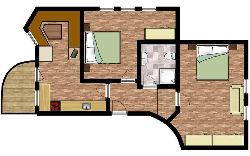 Skizze Appartement 1