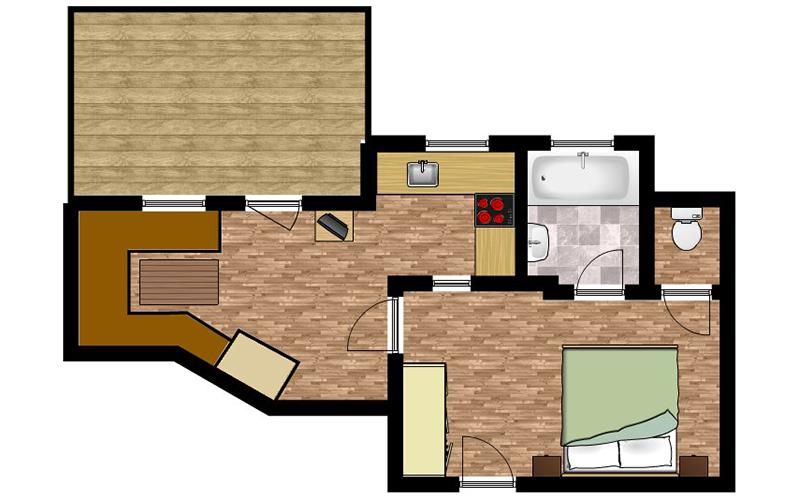 Skizze Appartement 4