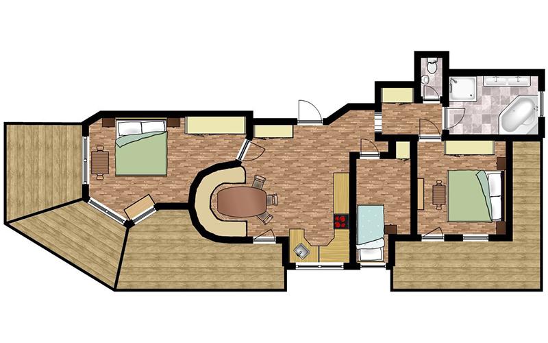 Skizze Appartement 6
